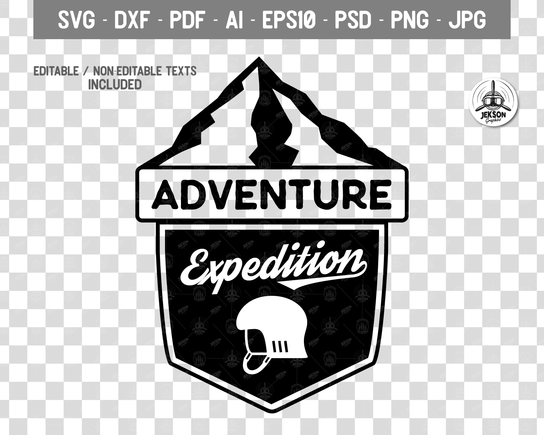 Vintage Adventure Logo / Retro Camp Hipster Badge SVG example image 2
