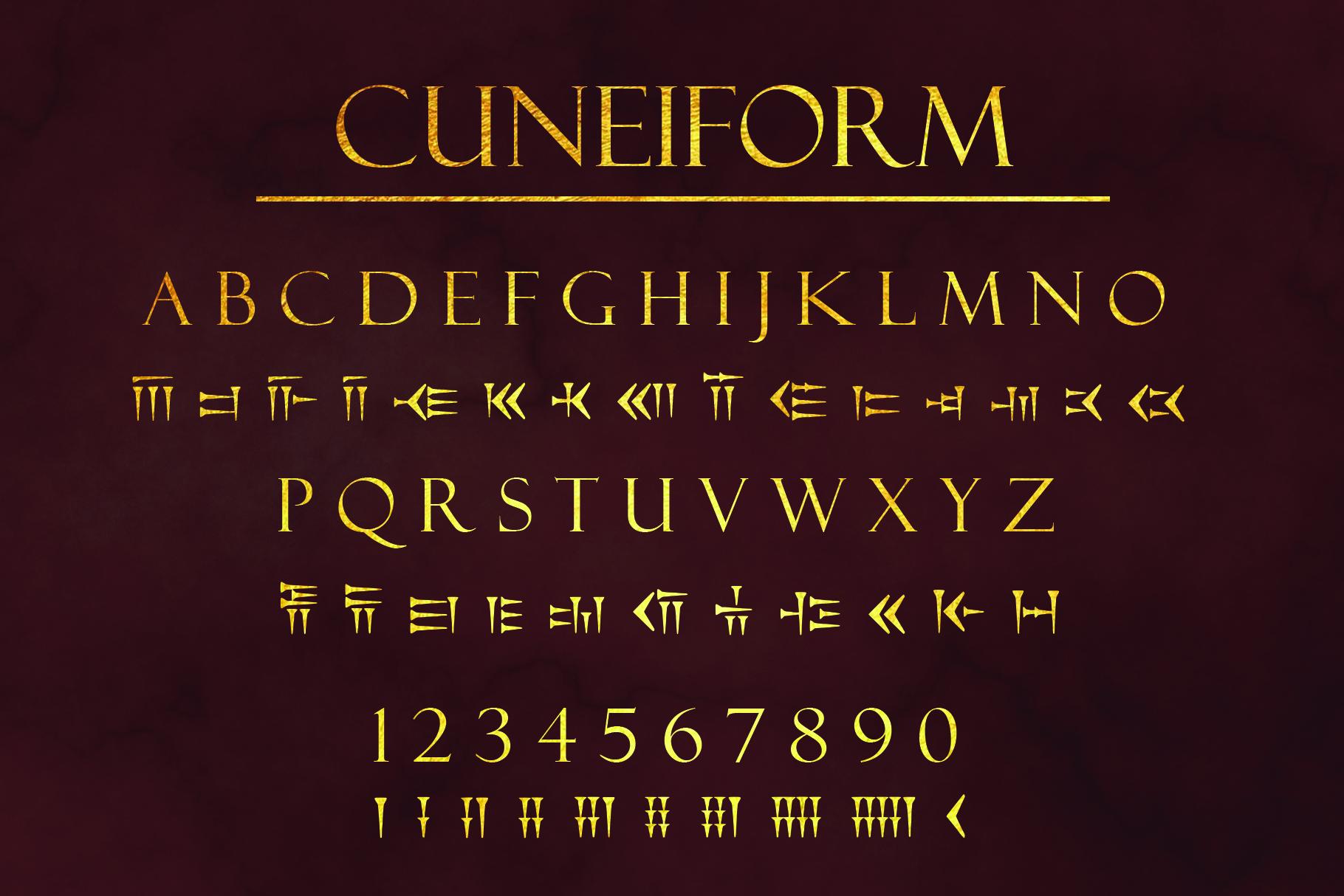 Ancient Languages Typeface Bundle example image 2