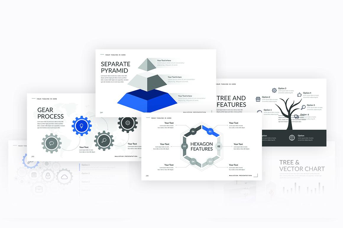 Malistisk Multipurpose Powerpoint example image 8