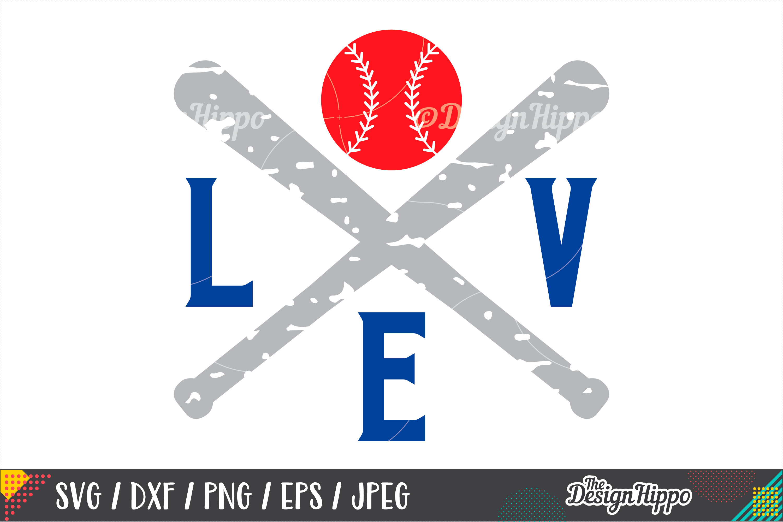 Love Baseball SVG, Grunge SVG, Baseball Mom SVG, DXF PNG EPS example image 1