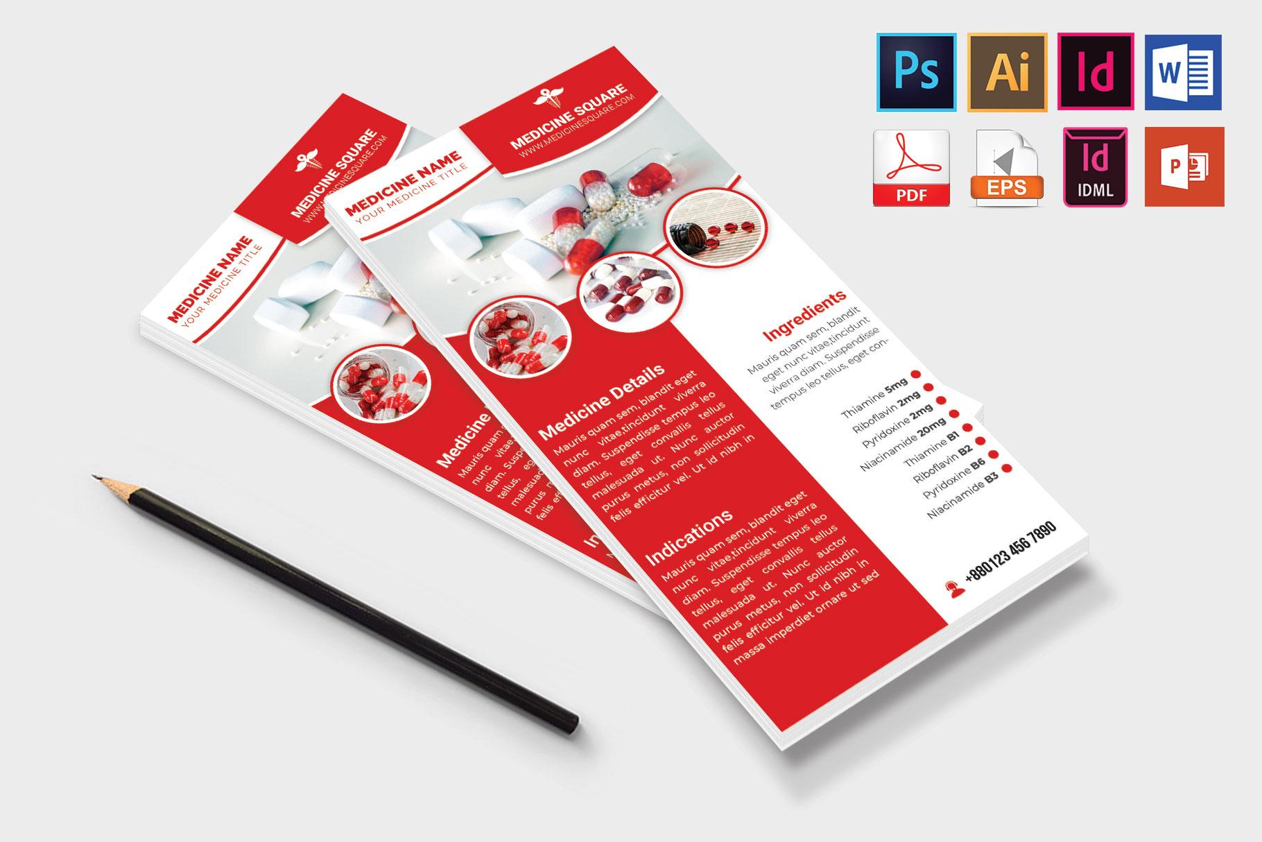 Rack Card | Medicine Promotion DL Flyer Vol-03 example image 4