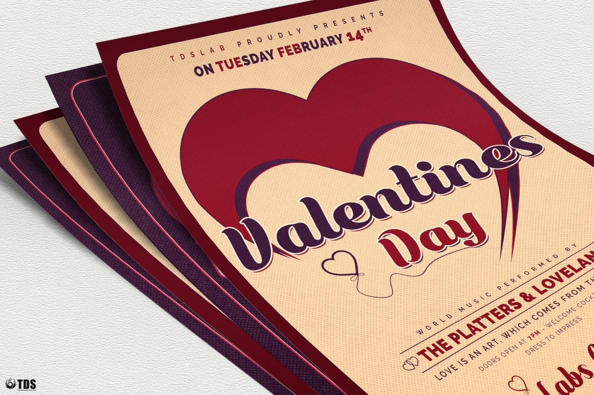 Valentines Day Flyer Template V9 example image 5