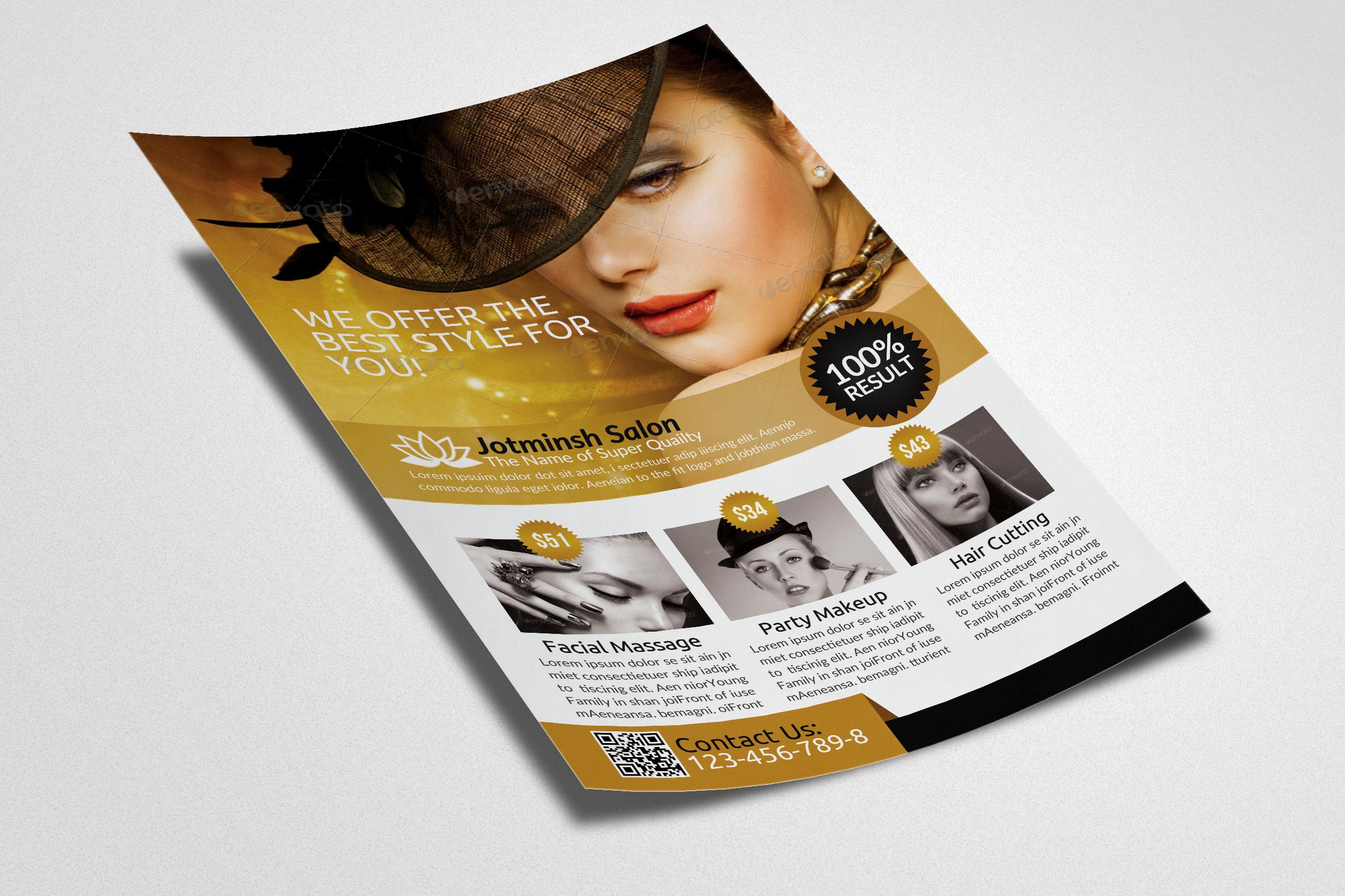 Beauty Salon Flyers example image 3