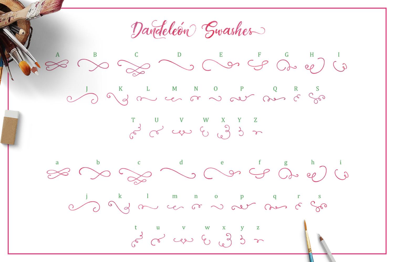 Dandeleón font + SWASHES example image 11