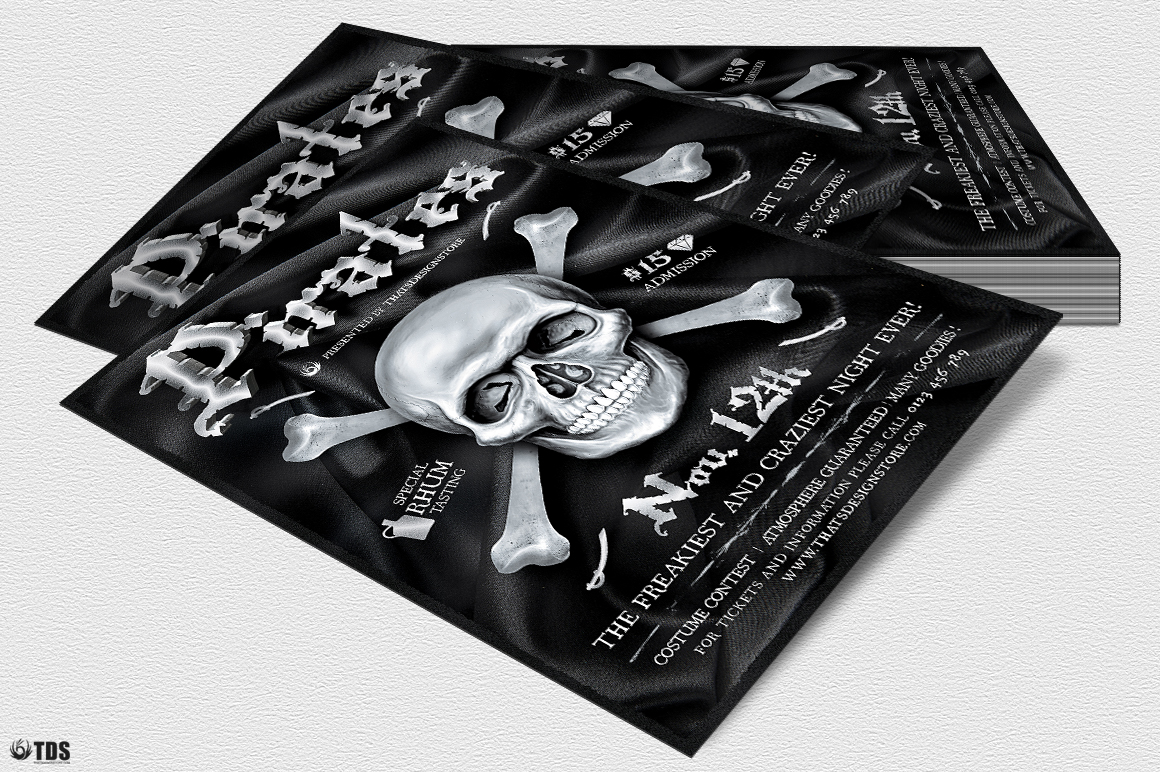 Pirates Party Flyer Template example image 4