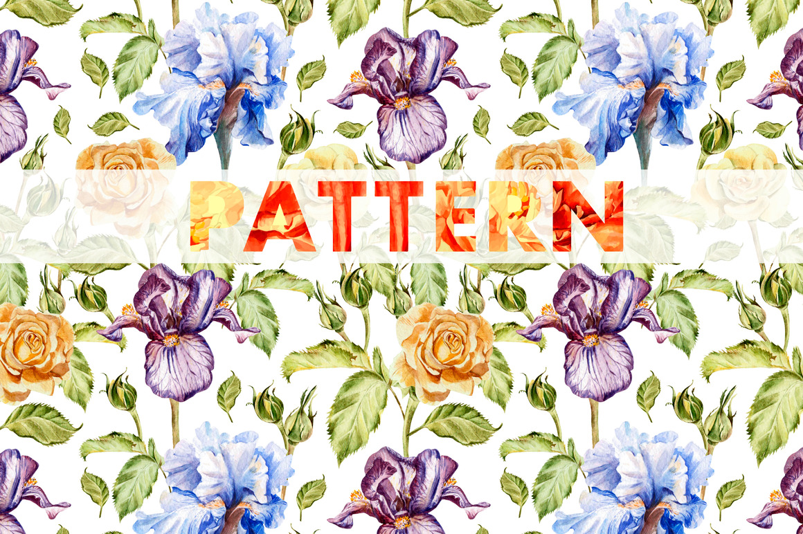 8 bright watercolor patterns example image 6