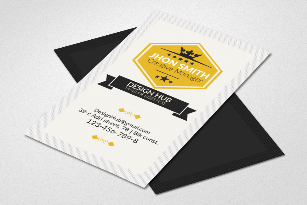 Vintage Vertical Business Cards example image 1