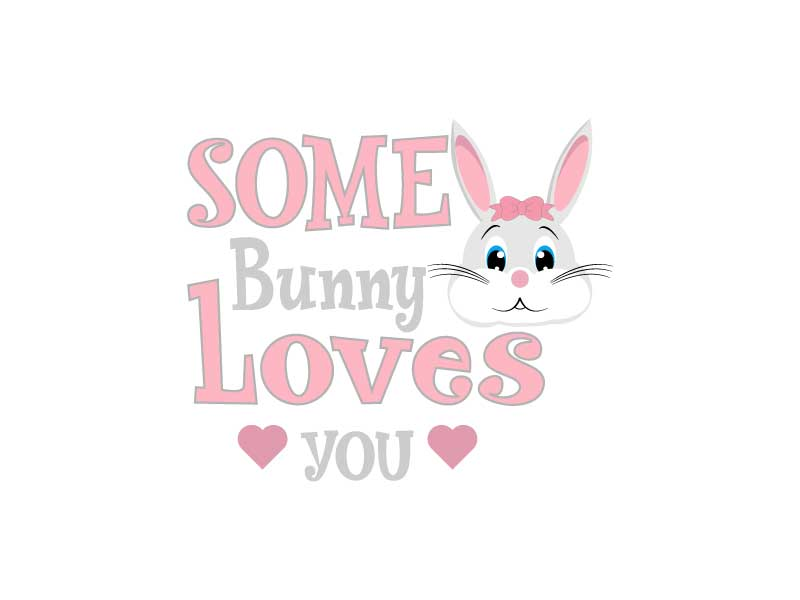 Easter Svg,Some Bunny Loves You ,Easter Bunny Svg example image 4