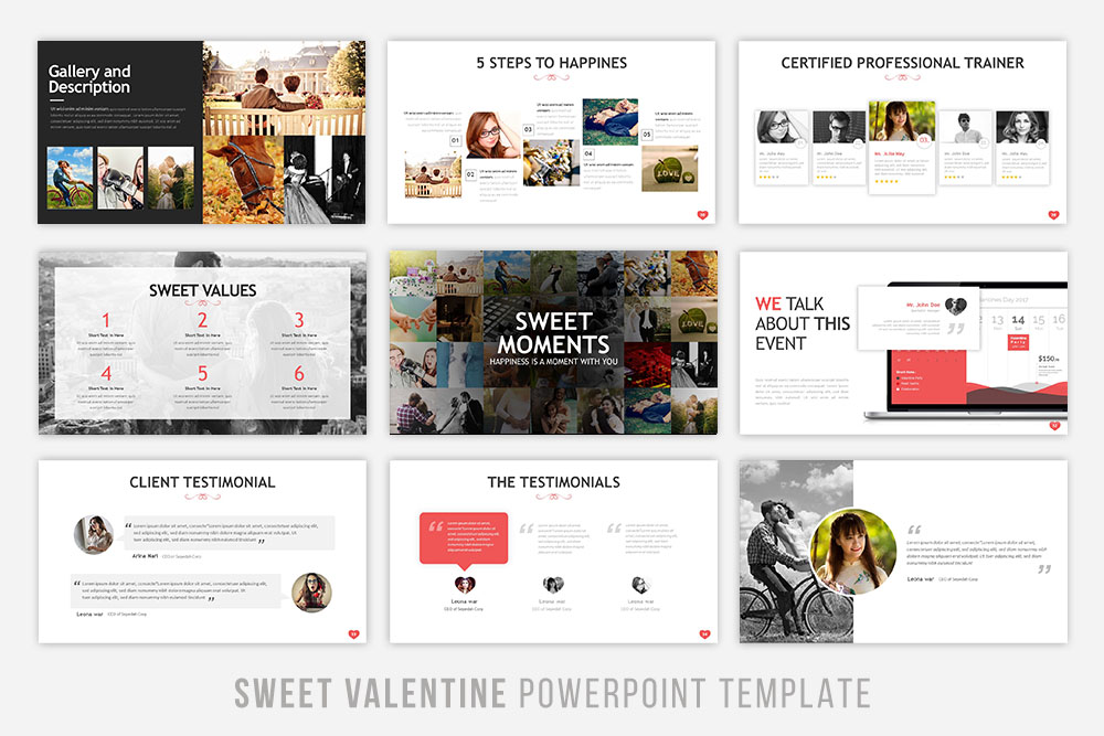 Sweet Valentine Powerpoint Template example image 4