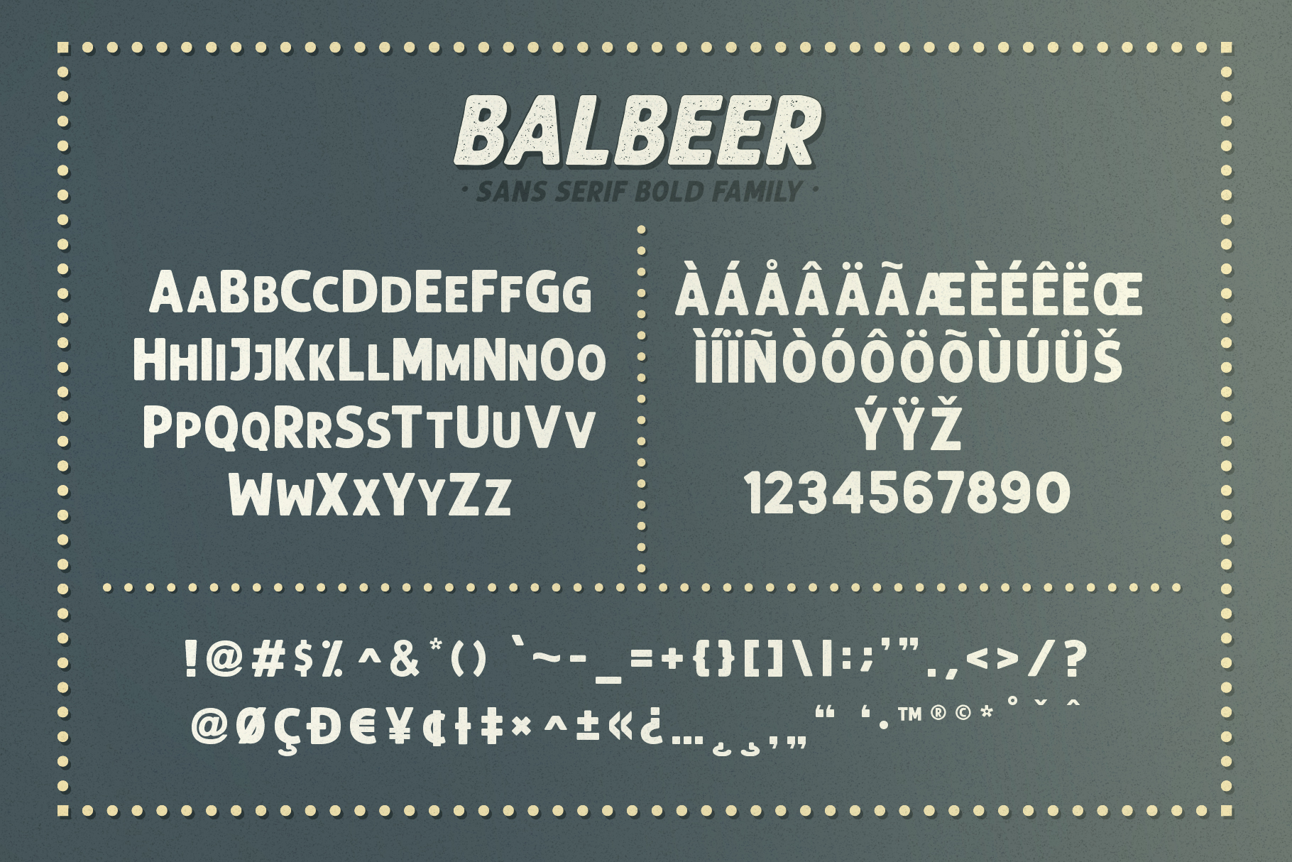 BALBEER FONT FAMILY BONUS - discount till end december example image 5