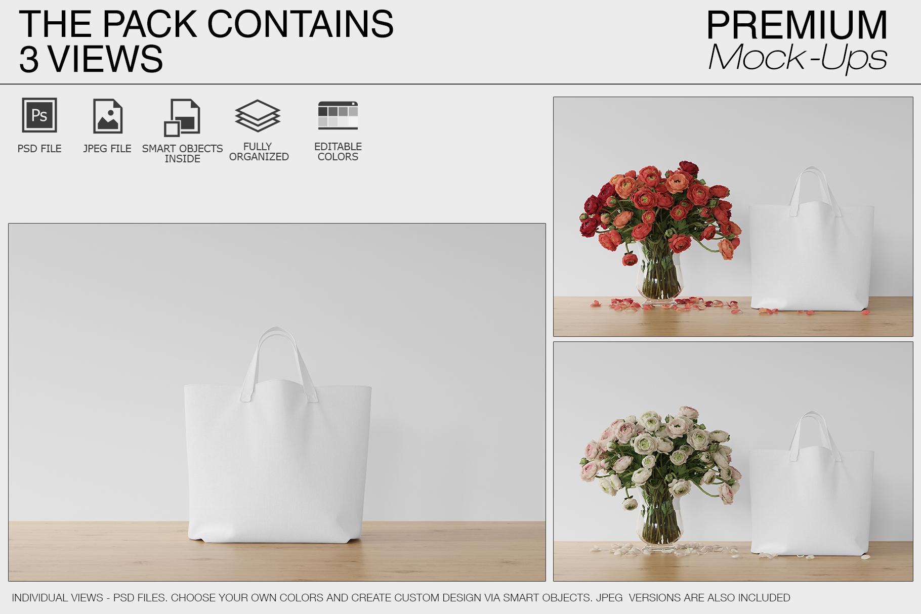 Tote Canvas Bag Mockups example image 10
