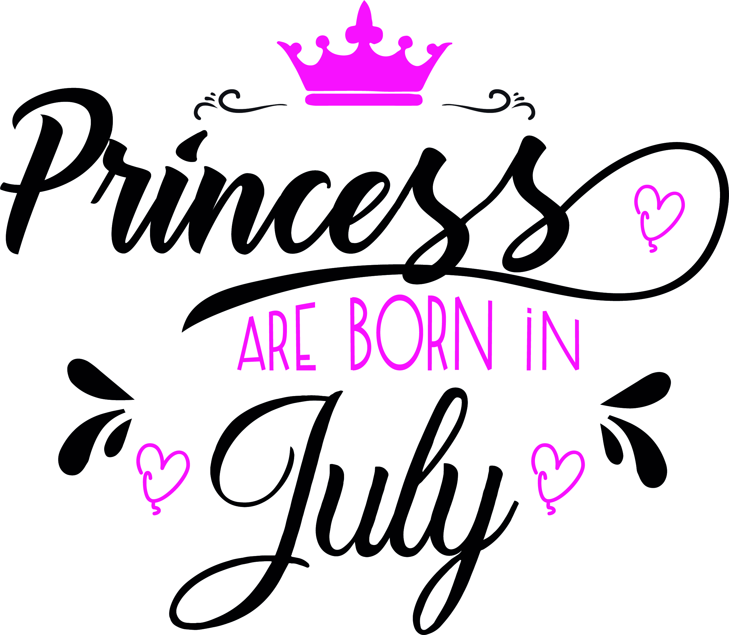 Princess are born in July Svg,Dxf,Png,Jpg,Eps vector file example image 2