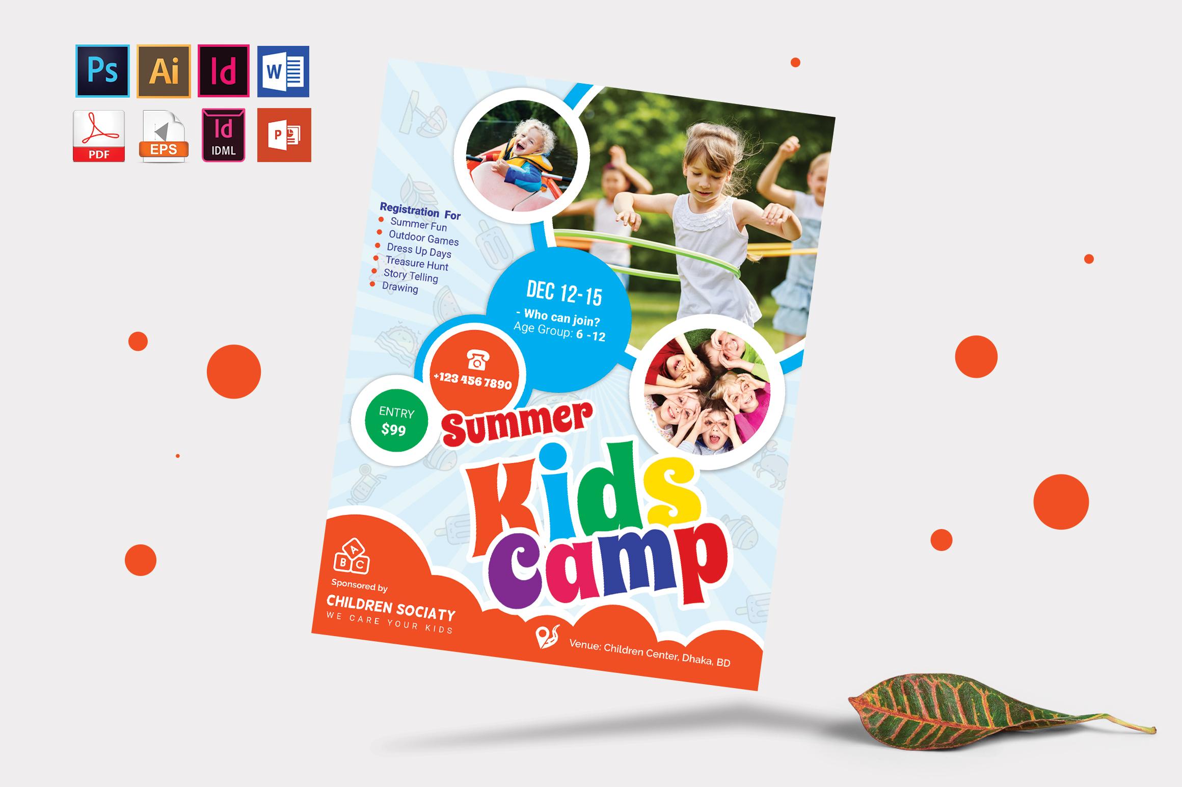 Kids Summer Camp Flyer Vol-04 example image 3