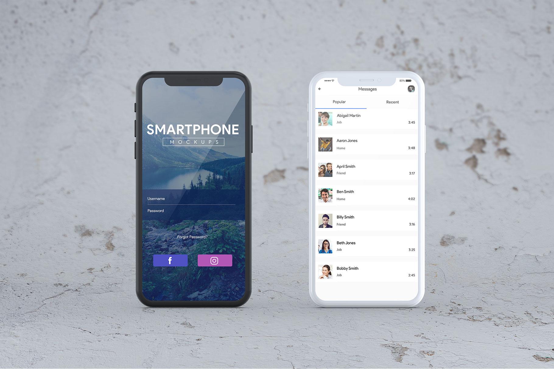Smartphone Mock-Ups example image 12
