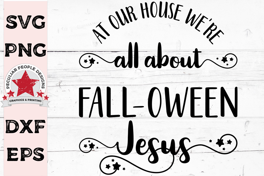 All About FALLOWEEN Jesus, cute Hallowen SVG cut file example image 1