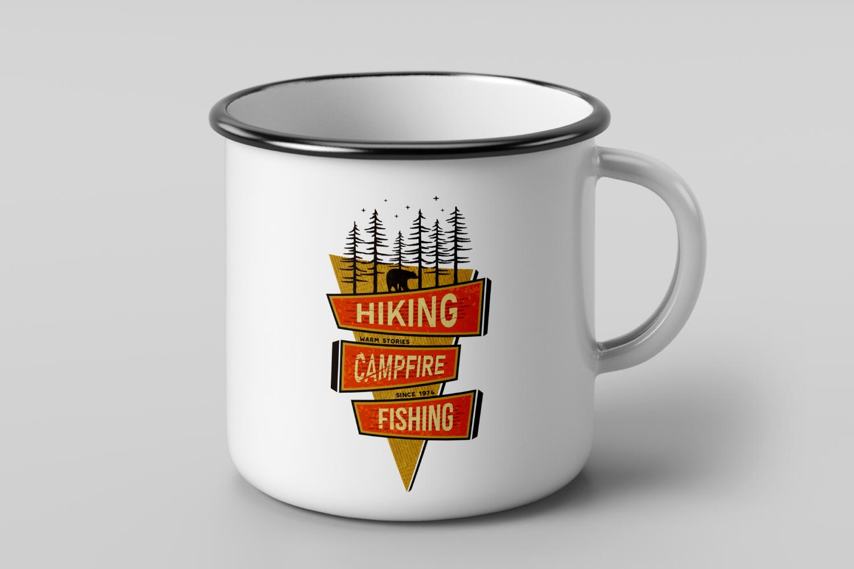 Mountains Logo, Retro Hiking Adventure Badge T-Shirt SVG Cut example image 3