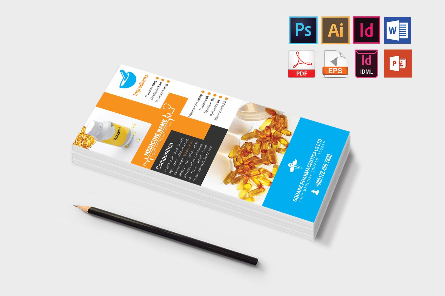 Rack Card | Medicine Promotion DL Flyer Vol-01 example image 3