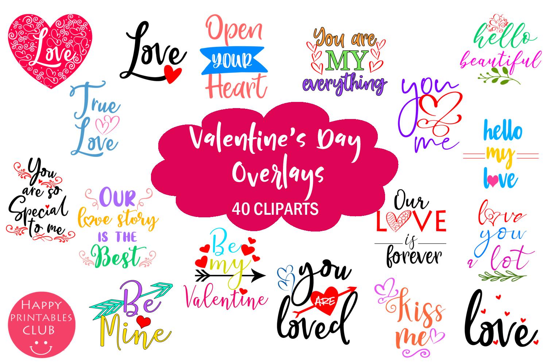 Cute Valentine's Day Overlays- Valentine Overlays Cute example image 8