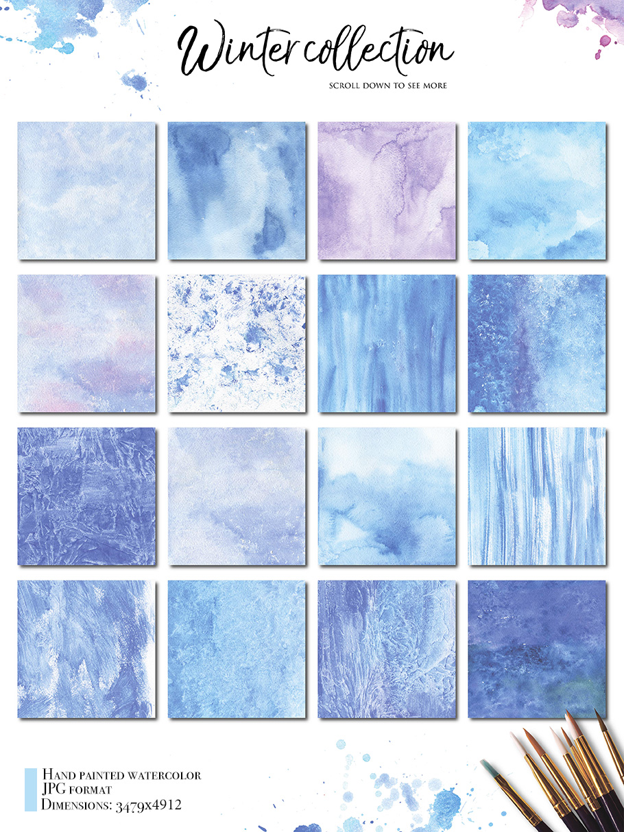 69  Watercolor textures backgrounds! example image 2