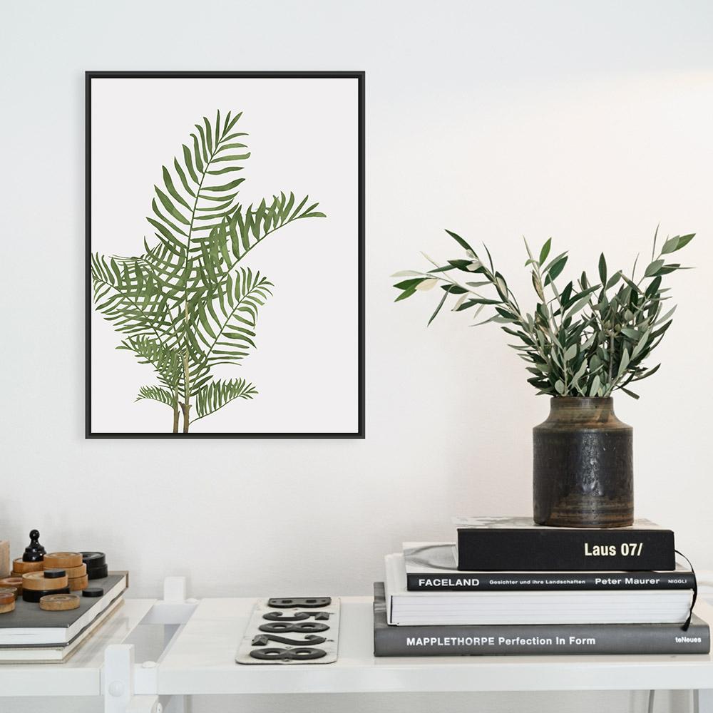 Palm Leaves Print, Tropical Leaves Print, Palm Tree Wall Art example image 2