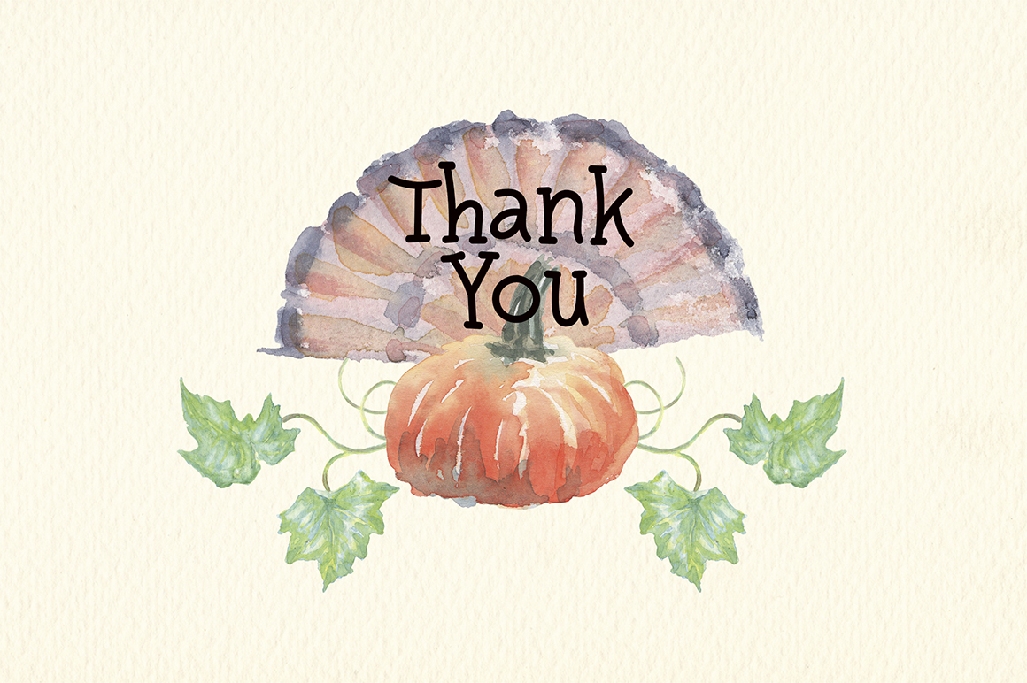 watercolor autumn, harvest and thanksgiving clipart example image 8