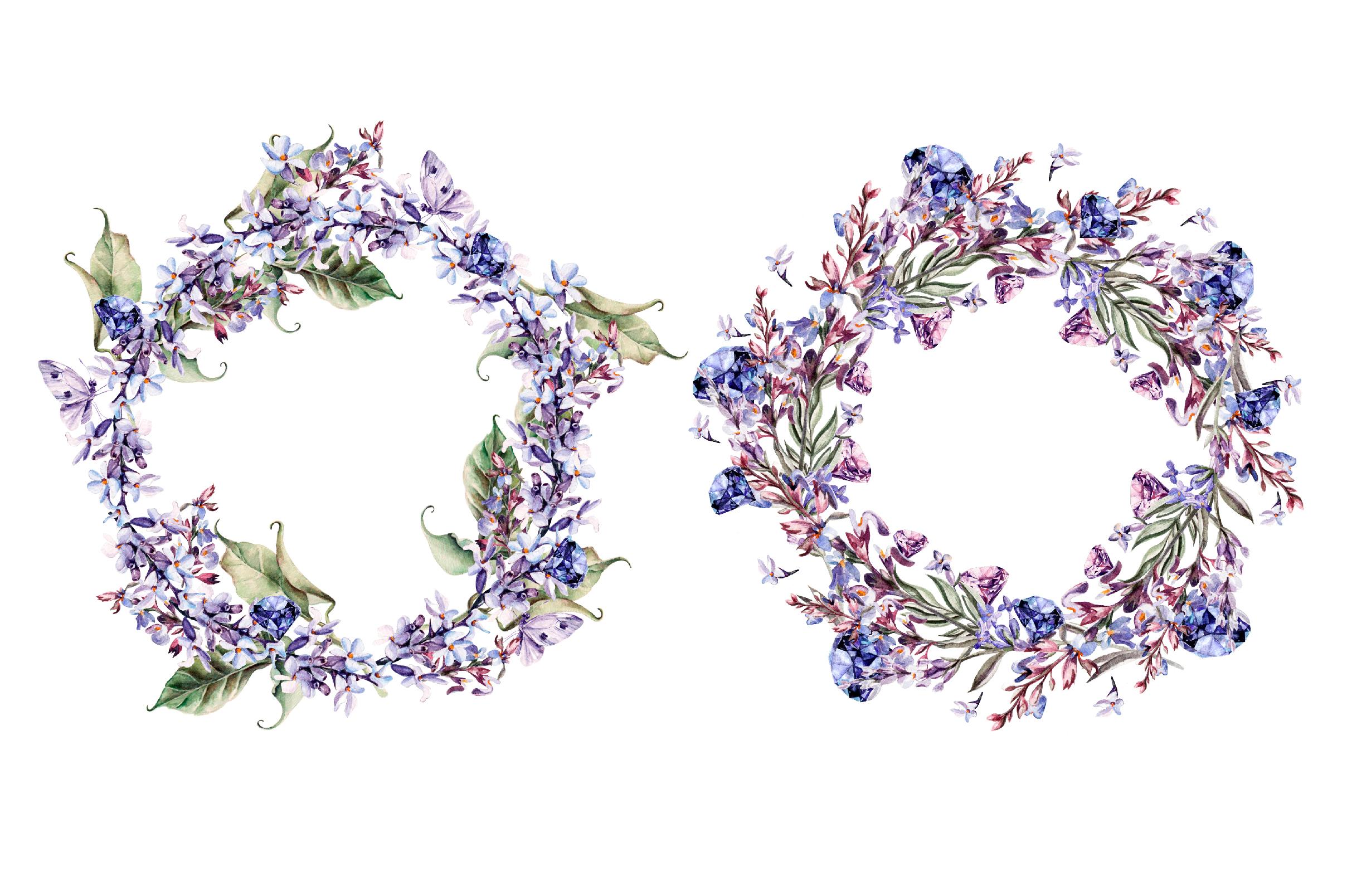 Beautiful watercolor Lavender example image 3