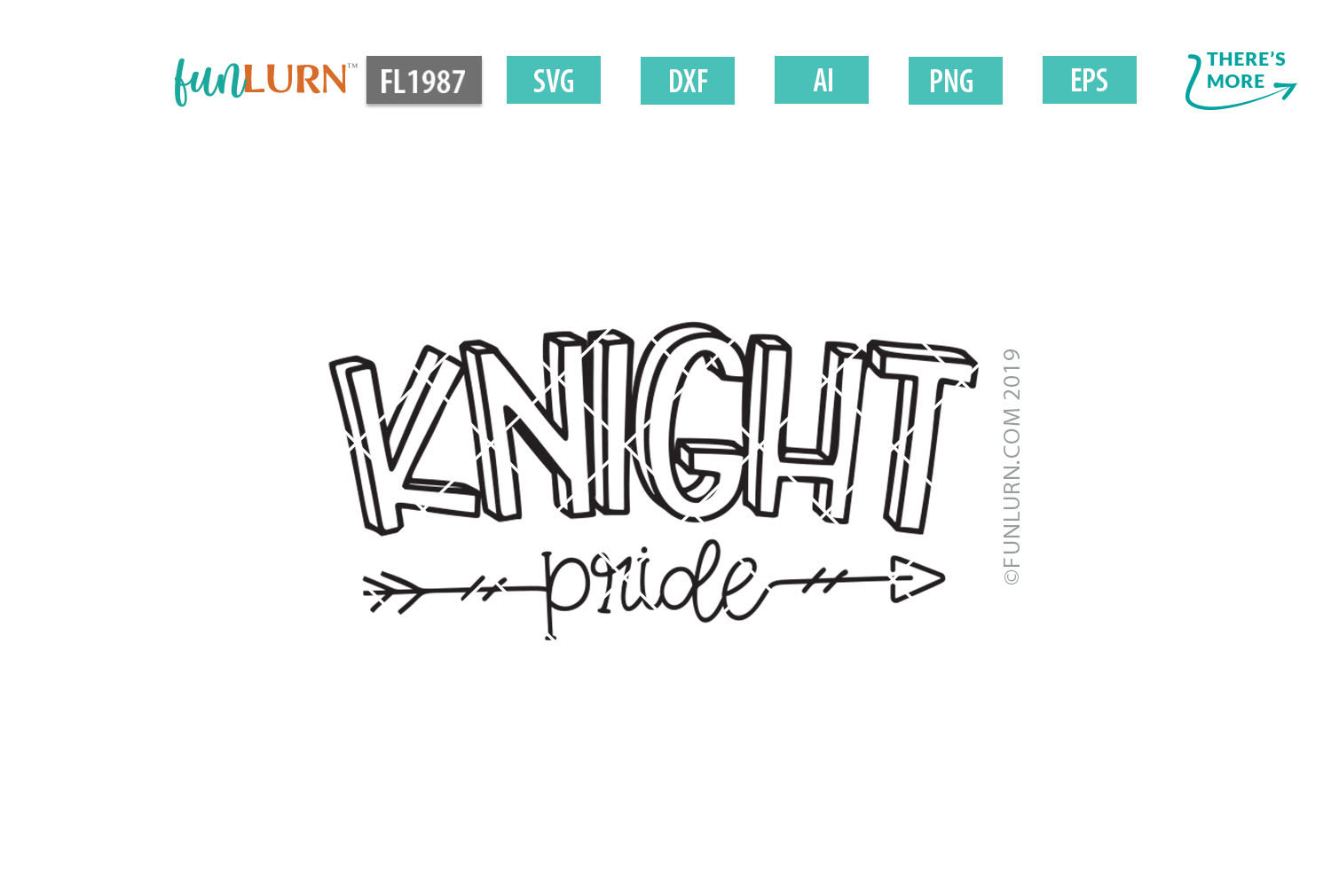 Knight Pride Team SVG Cut File example image 2