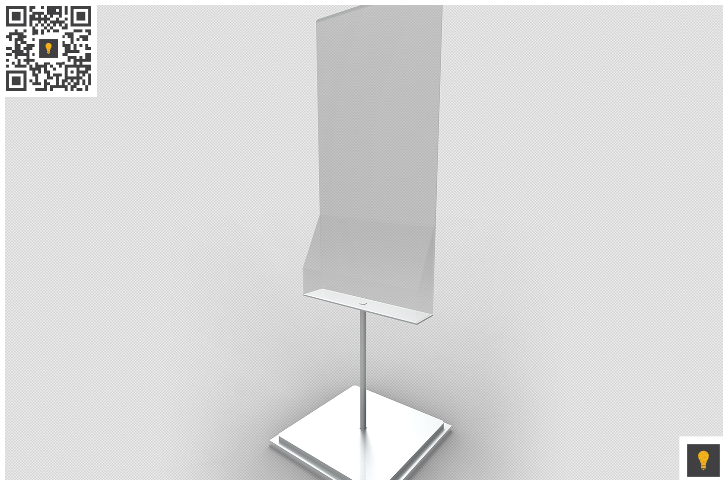 Poster Stand with Rack 3D Render example image 2