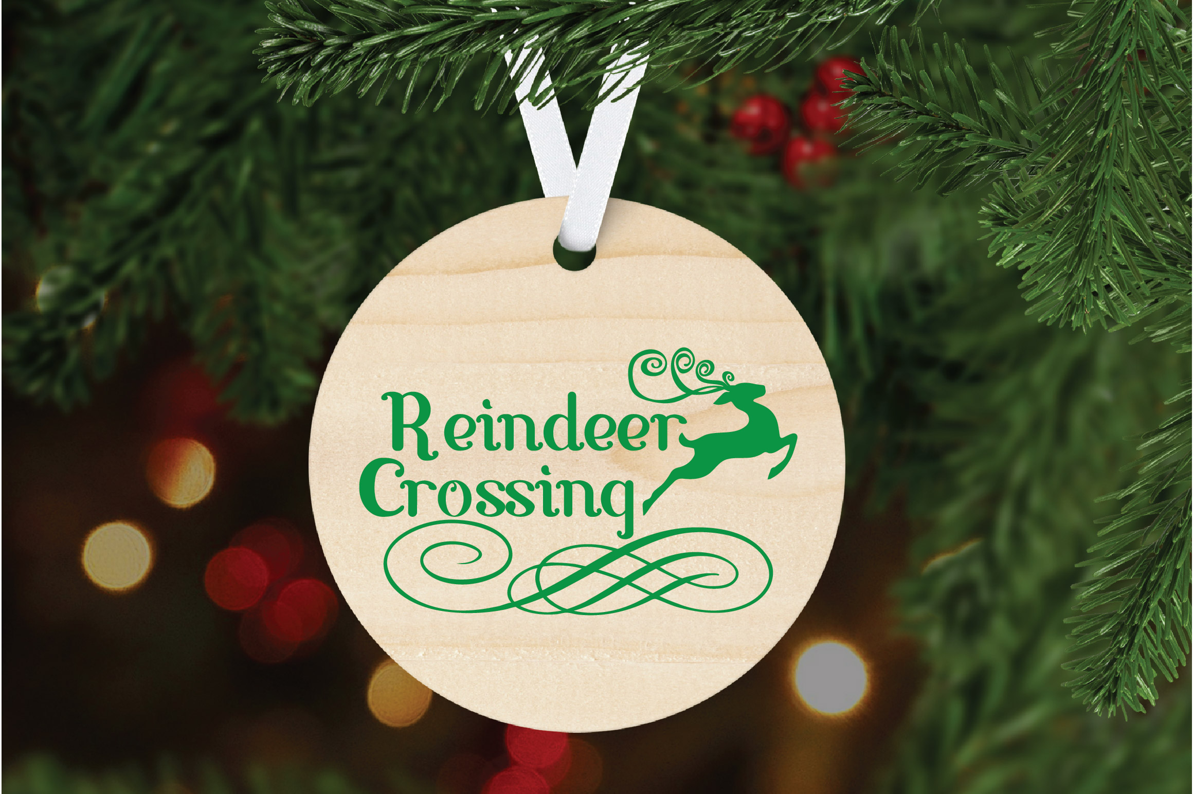 Christmas SVG Cut File - Reindeer Crossing SVG DXF PNG EPS example image 6