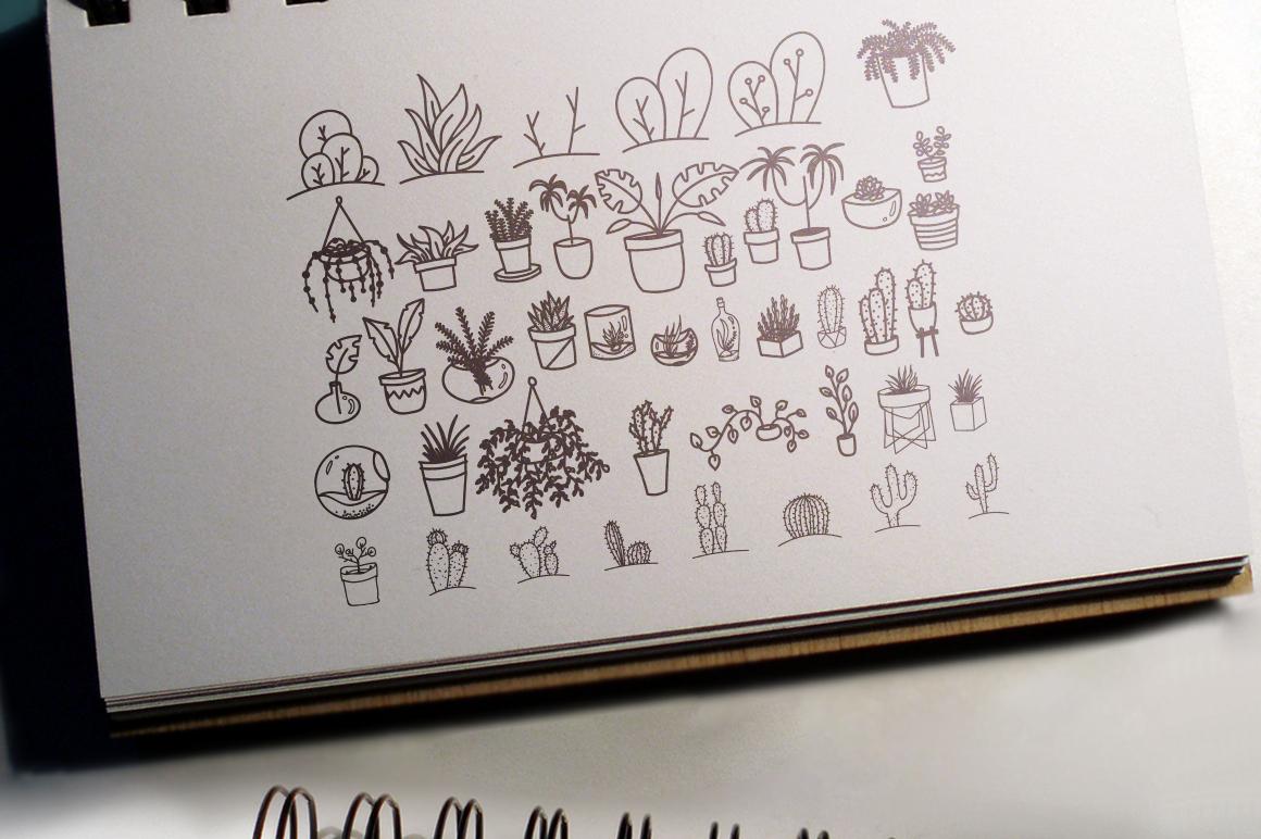 100 Boho-Chic Plants Vectors example image 5