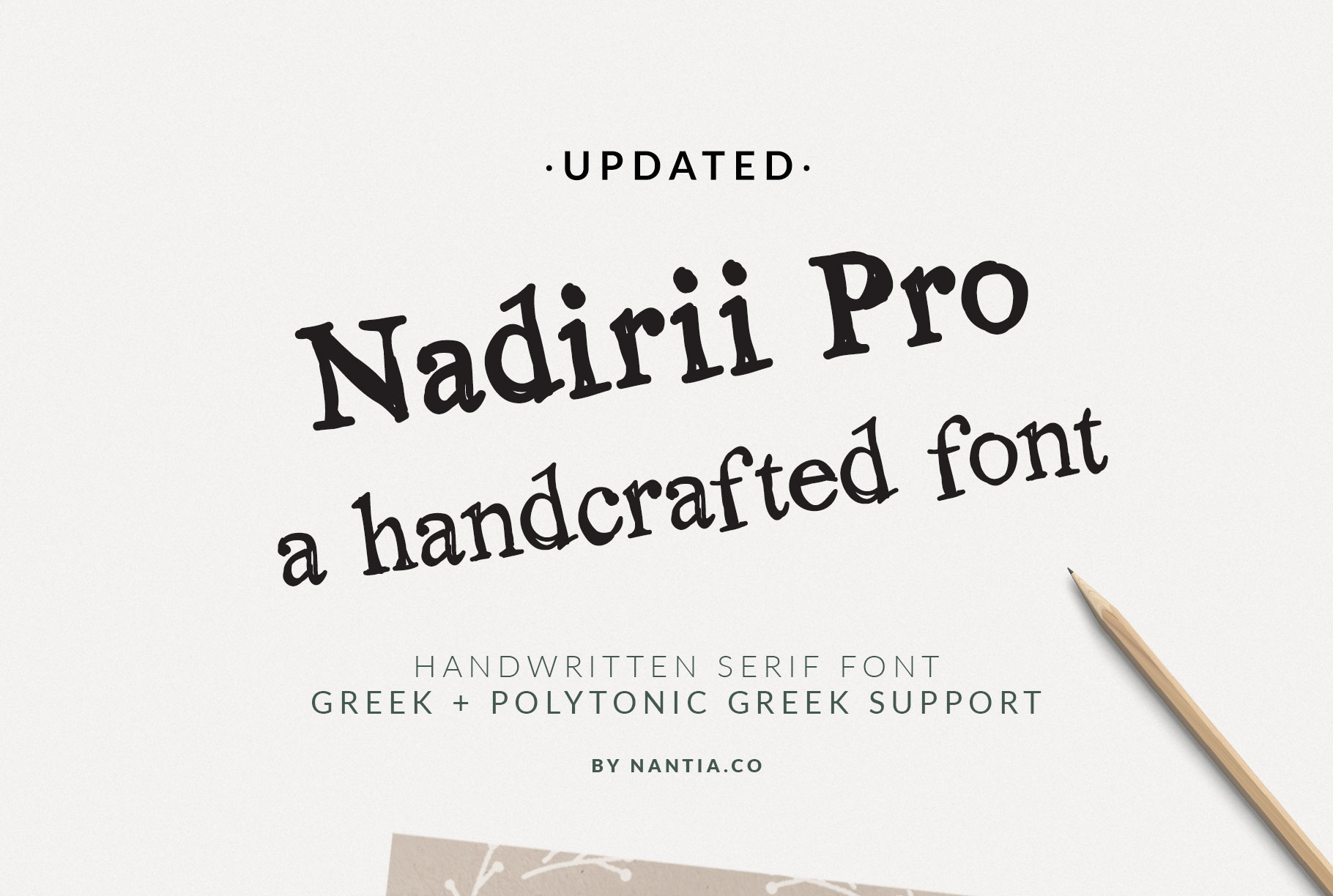 Nadirii Font | Handcrafted example image 2