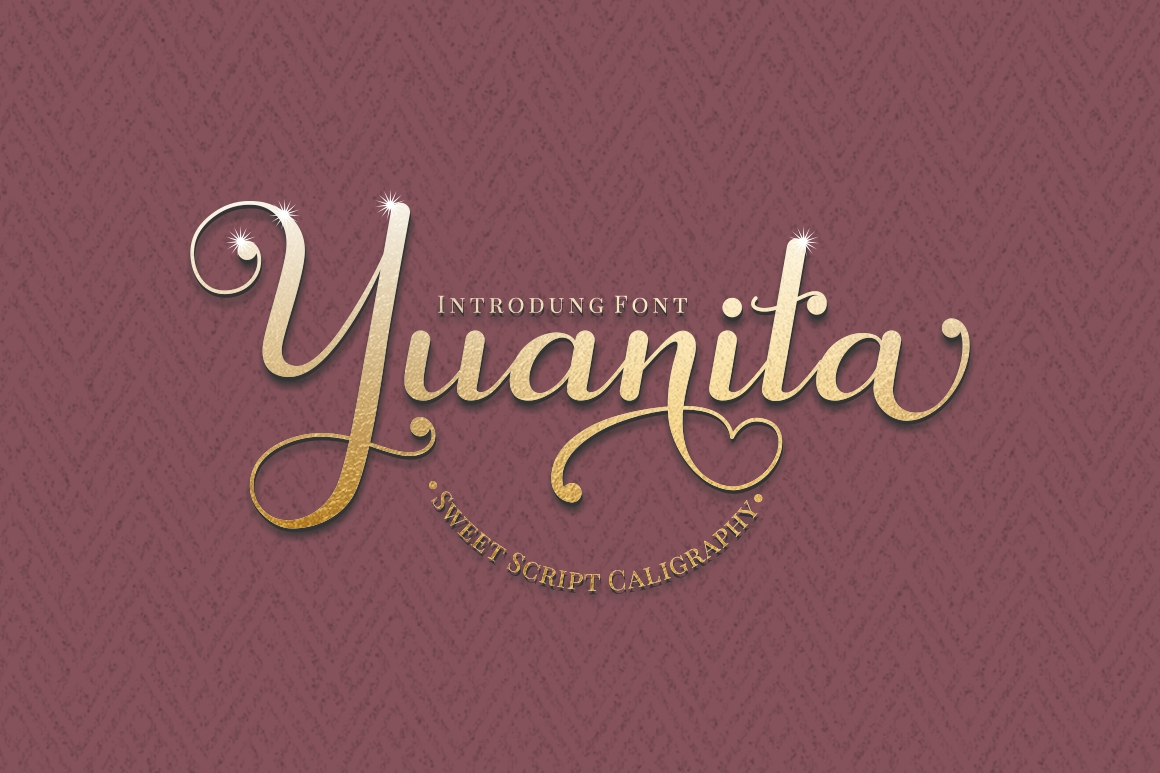 Yuanita - Modern Calligraphy Font example image 1