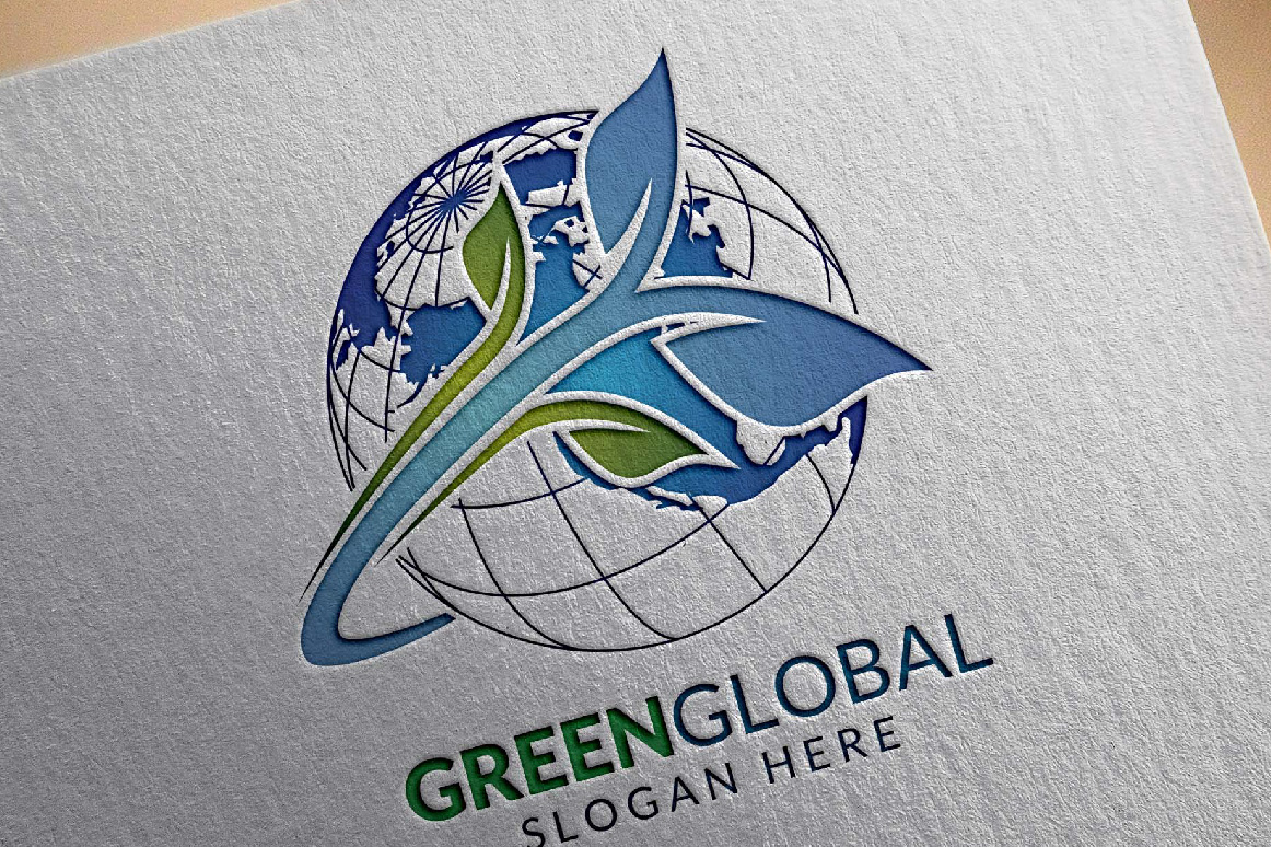 Green Global Ecology logo template example image 6