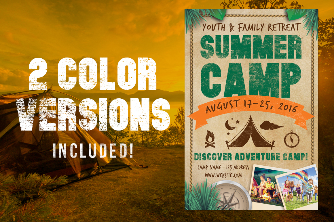 Chalk Summer Camp Flyer example image 1