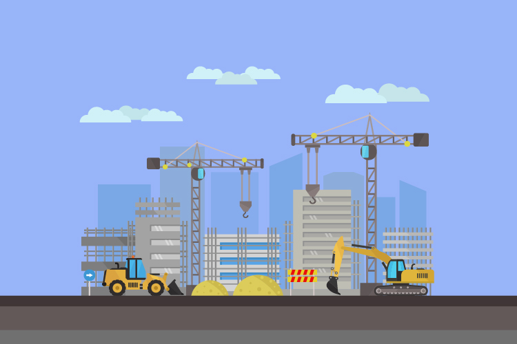 Buildings under construction example image 1