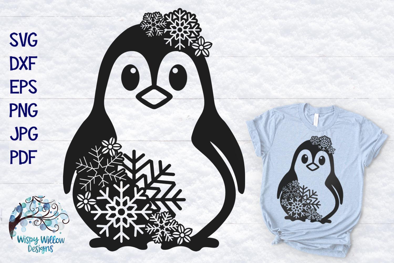 Snowflake Animal SVG Bundle | Winter Animal SVG Cut Files example image 10