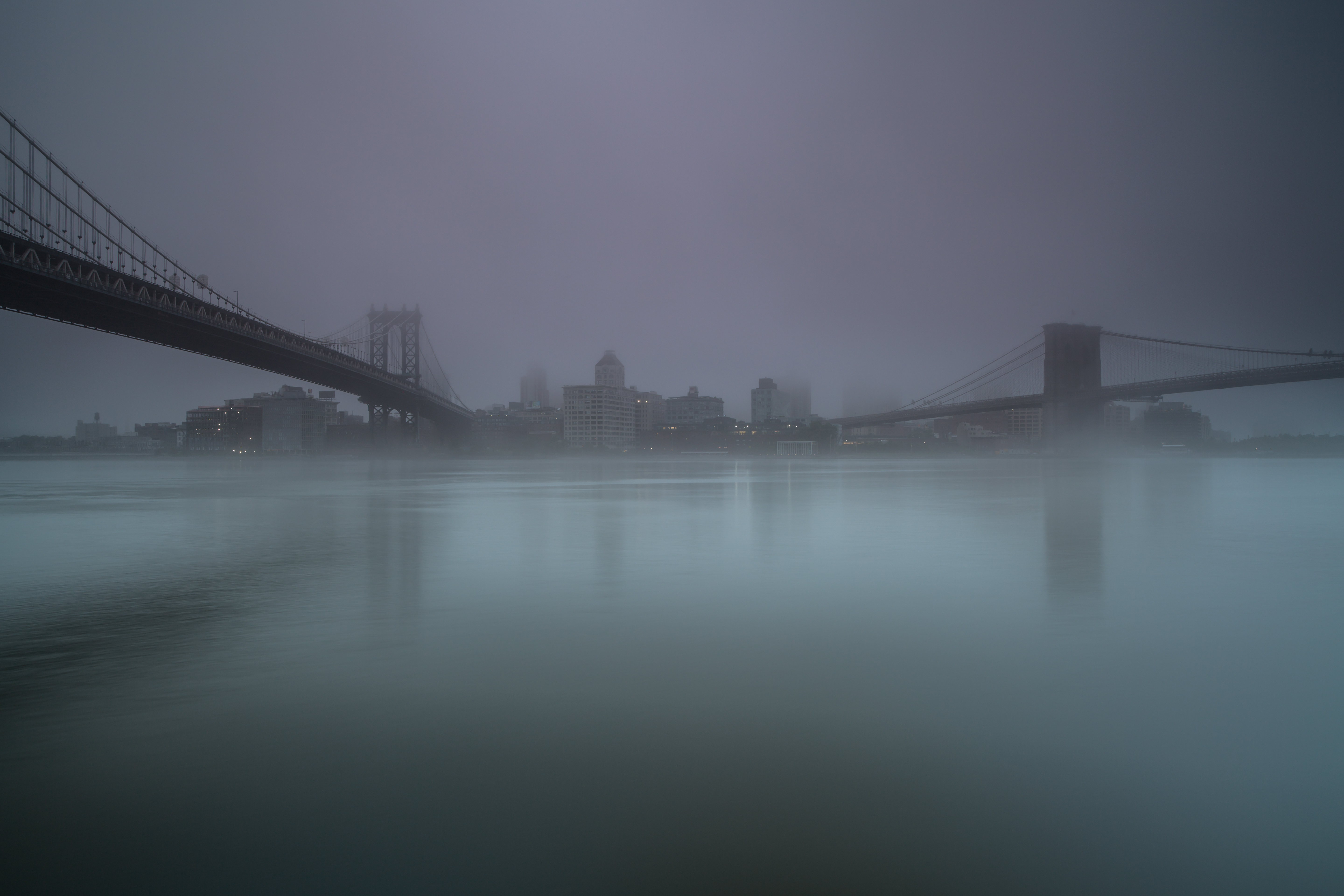Foggy morning in Manhattan example image 1