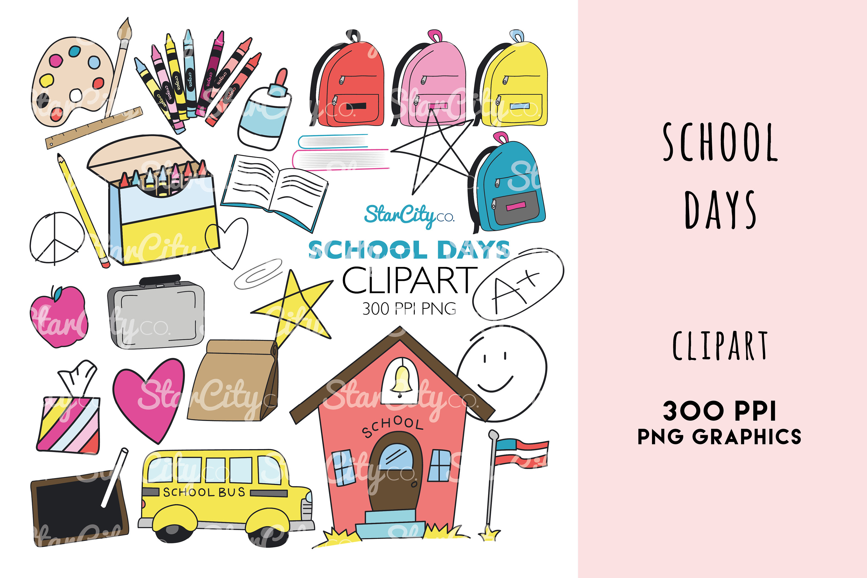 School Days Clipart Graphics example image 1