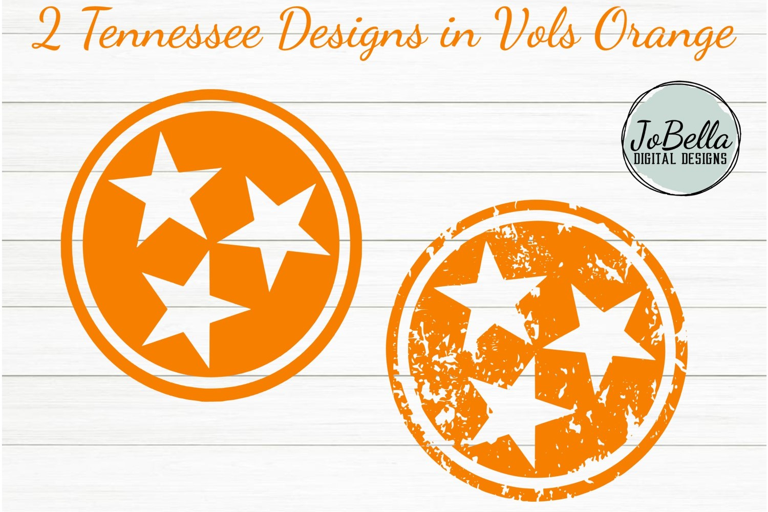 Tennessee Tri-Star SVG and Printable Solid and Grunge Bundle example image 1