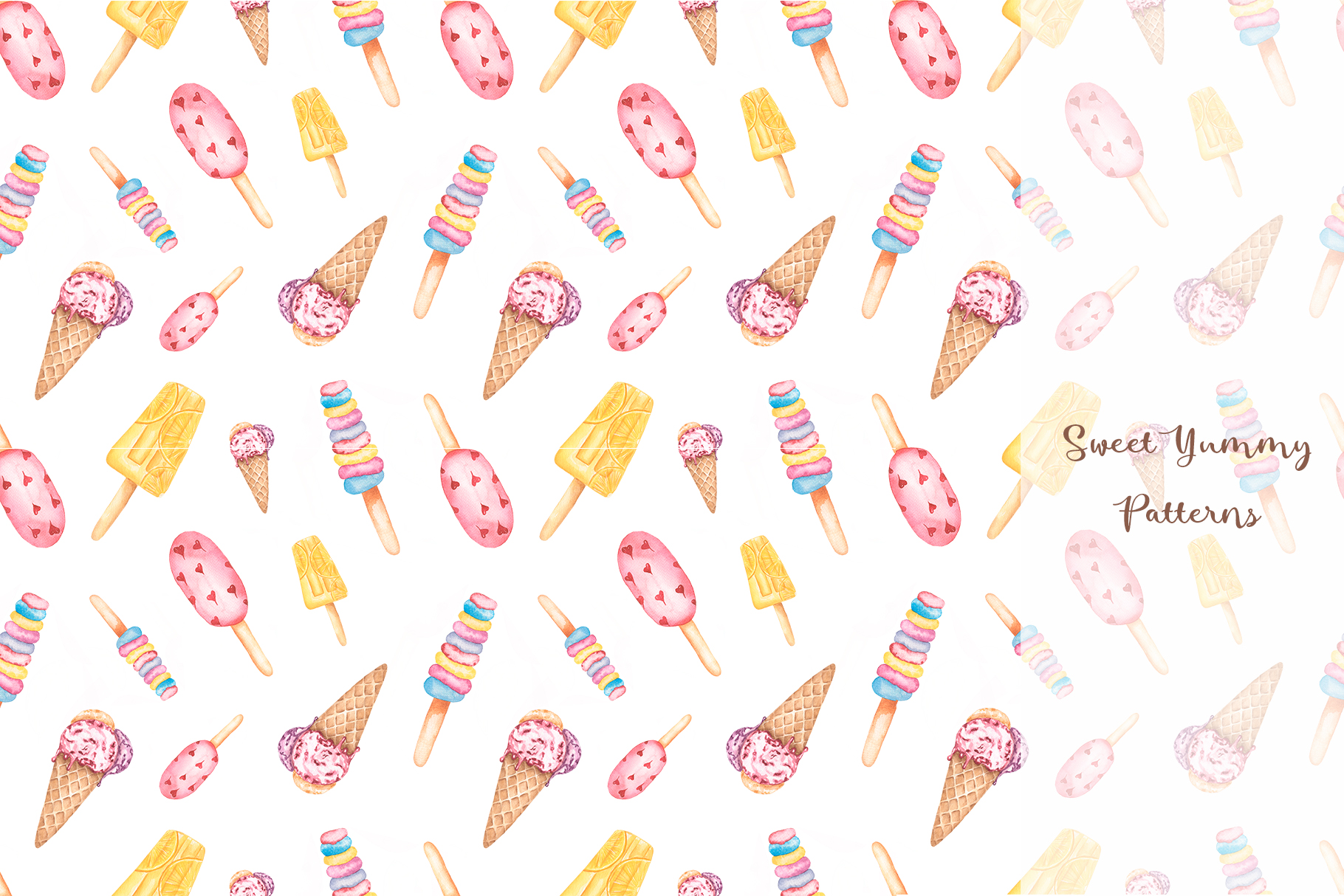Sweet Yummy Patterns Collection example image 3