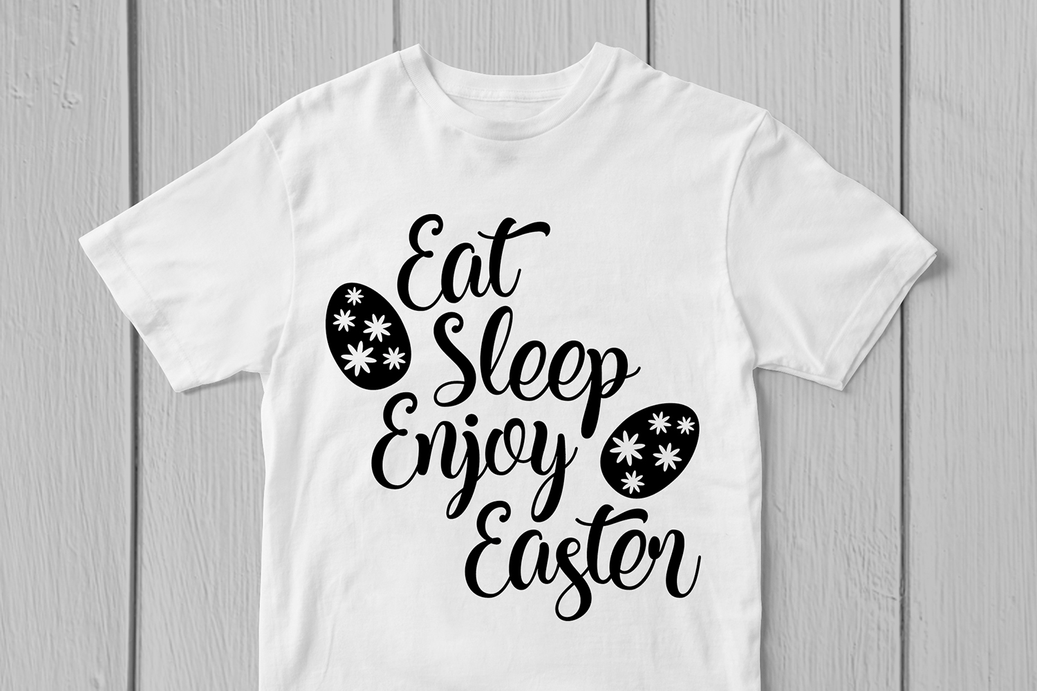 Eat Sleep Enjoy Easter - Easter SVG EPS DXF PNG Cut Files example image 2