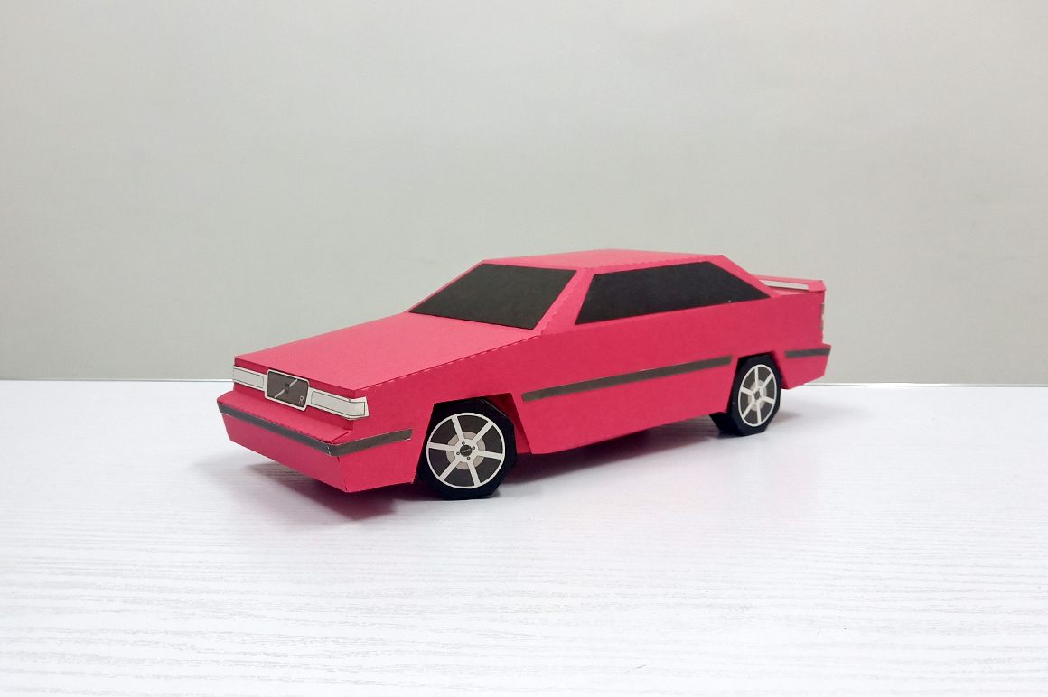 DIY Volvo Car - 3d papercraft example image 2