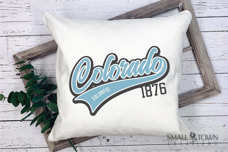 Colorado, Colorful - state slogan, Logo, PRINT, CUT & DESIGN example image 3