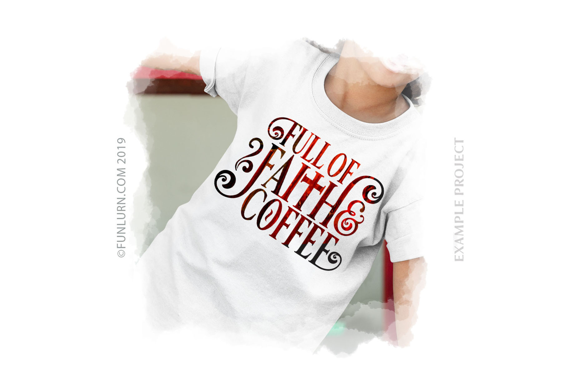 Full of Faith and Coffee SVG Cut File example image 3