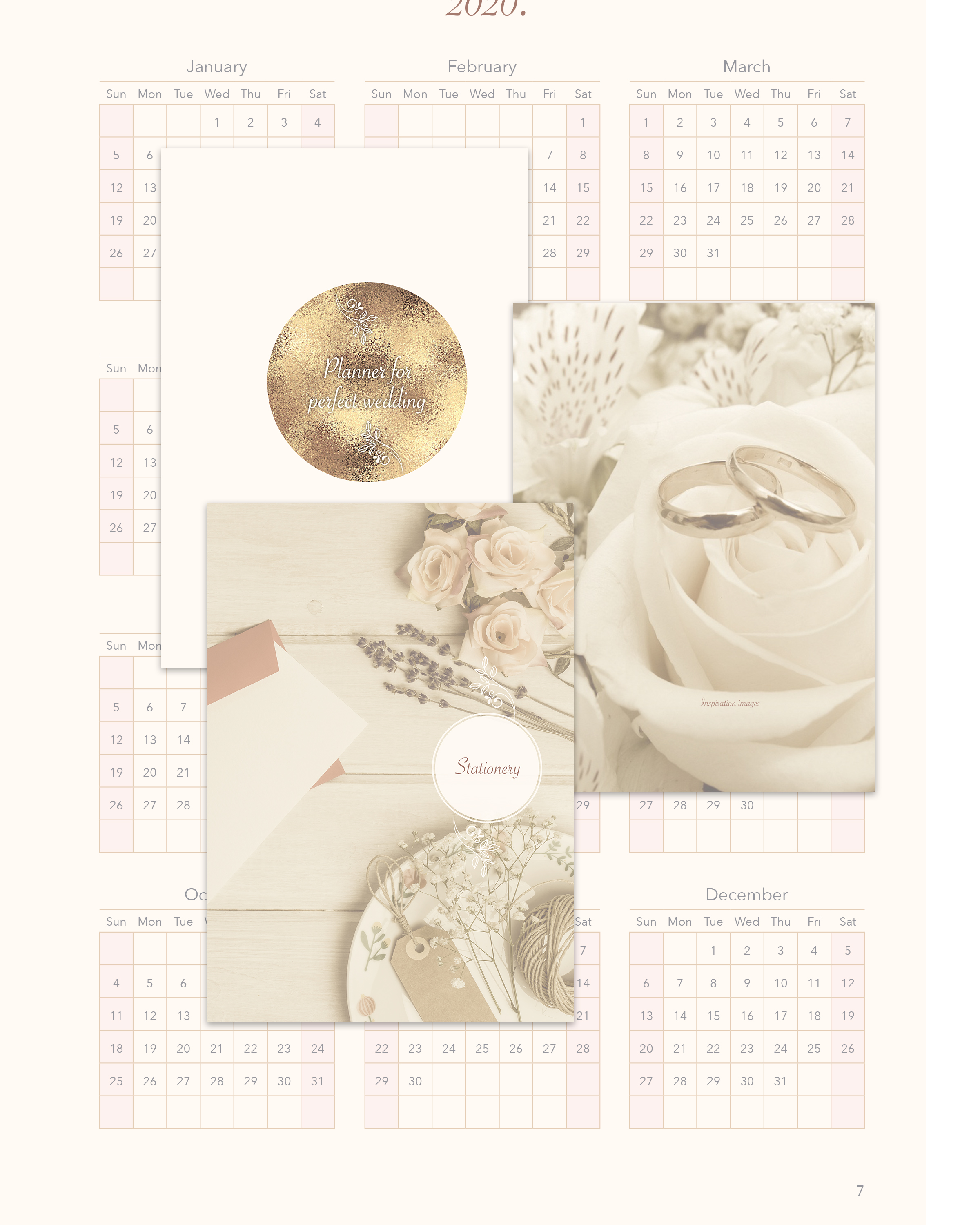 Wedding planner printable / personalization included example image 4