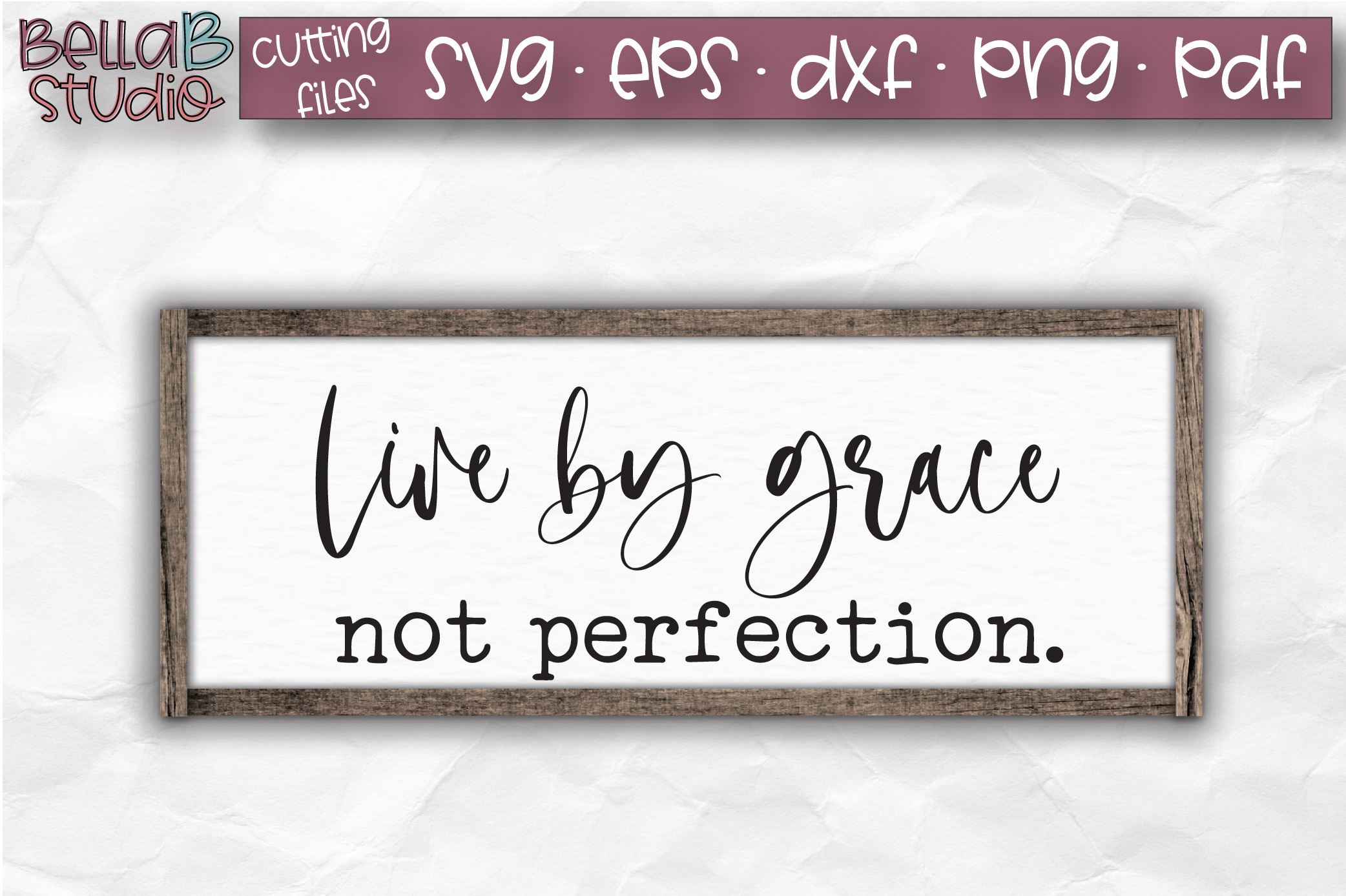 Live By Grace Not Perfection SVG, Christian Quote SVG example image 1