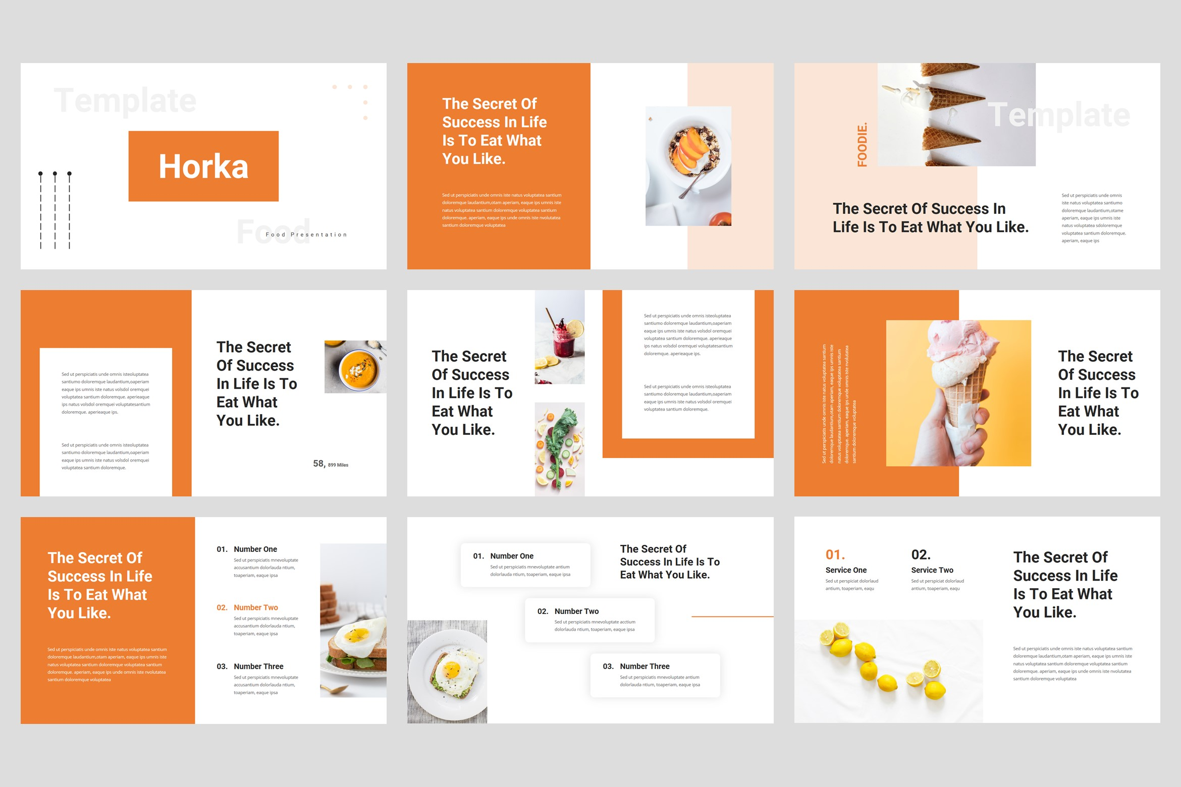 Horka - Food PowerPoint Template example image 2