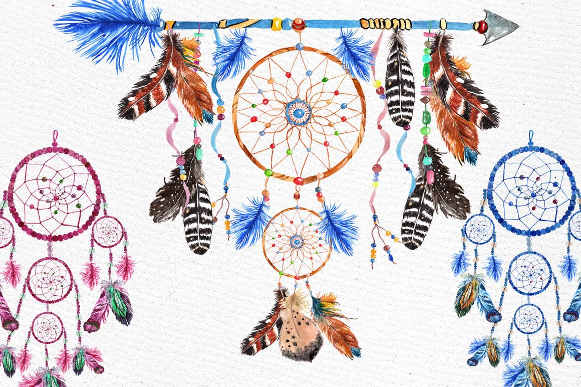Dreamcatchers, Tribal clip art example image 4