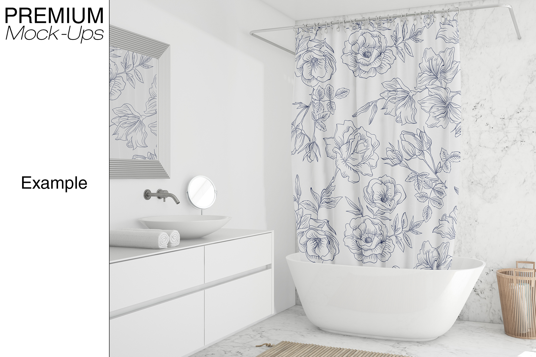 Shower Curtain Mockup Pack example image 4