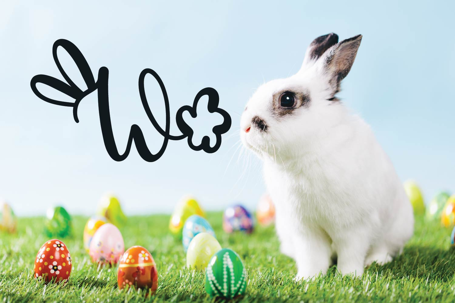 Rabbity - A Spring Font With Ears & Cotton Tails example image 5